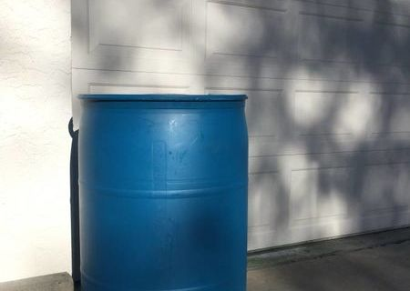 55 Gallon Rain Barrel Blue Plastic Drum Barrell